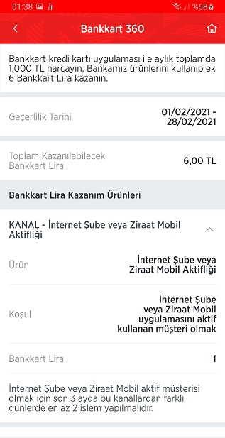 ziraat bankkart mobil aktifligi