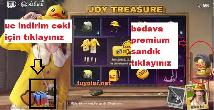 PUBG Bedava Premium Kutu Kazanmak 2 kısım